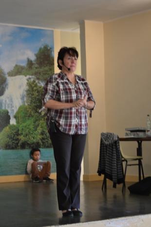 Annie Corthesy lors du stage organisé par les 100tiags